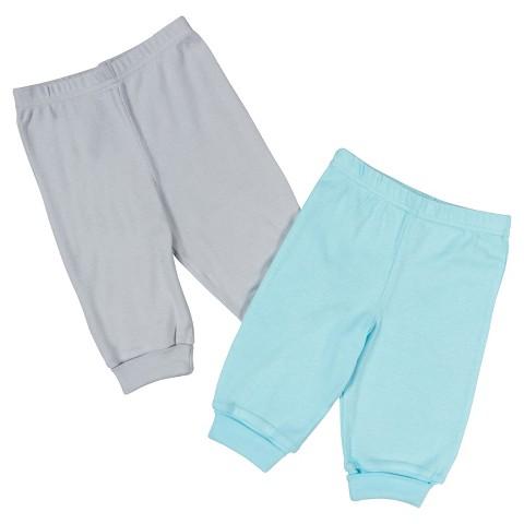 Gerber® Newborn 2 Pack Pant - Aqua/Grey