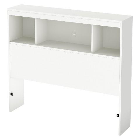 South Shore Litchi Kids Bookcase Headboard - Pure White