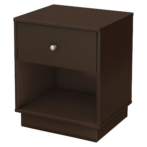 South Shore Litchi Kids' Nightstand - Chocolate