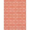 Threshold™  Rectangular Patio Rug - Orange Lattice