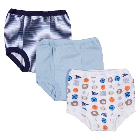 Gerber® Boys' 3 Pack Assorted Print Training Pants