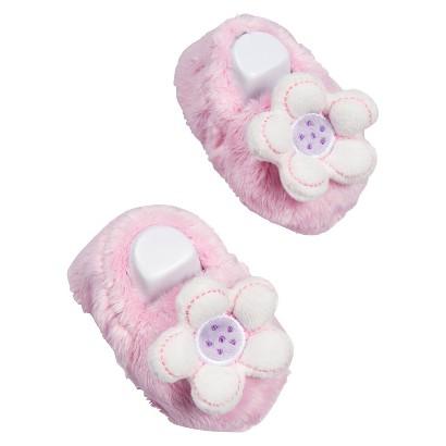 Gerber® Newborn Girls' Flower Velboa Bootie - Pink 6 M