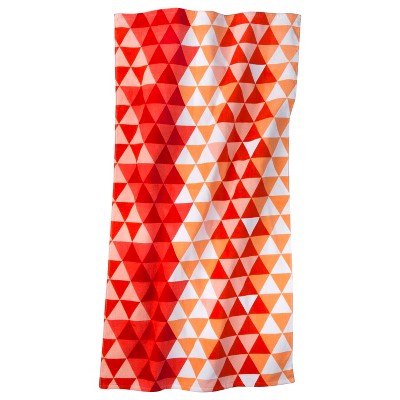 Geo Coral Beach Towel