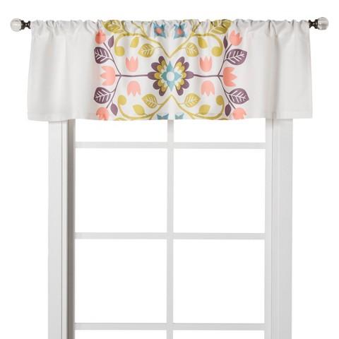 "Floral Medallion Window Valance (54x15"")"