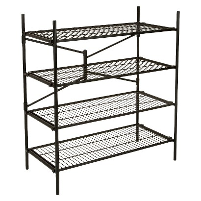 Cosco Garage 4-Shelf Storage Rack - Black
