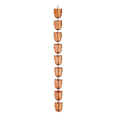 Good Directions 18 Cup Bluebell Rain Chain - Polished Copper
