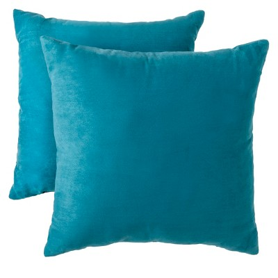 "Suede Pillow 2-Pack - Teal (18x18"") - Room Essentials™"