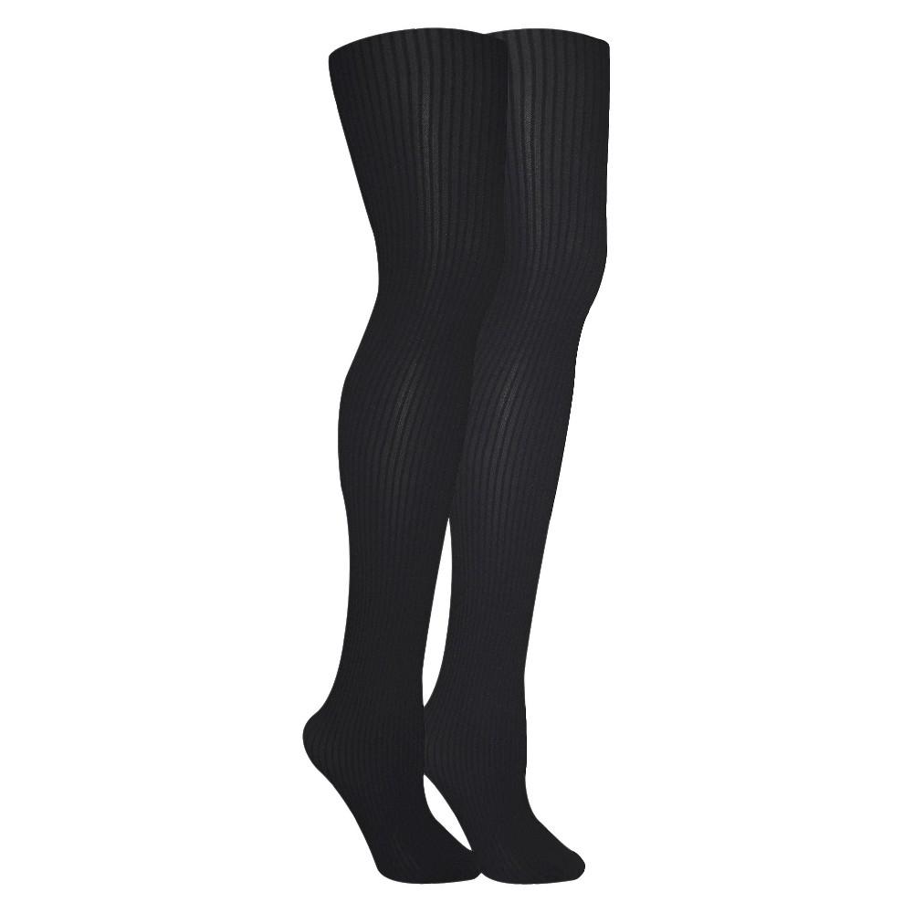 61deb79bc9c Xhilaration Women s Footless Tights Unicorn Sheer Ebony M L  11271 ...
