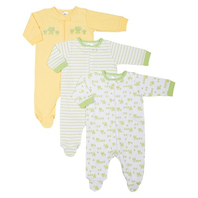 Gerber® Newborn 3 Pack Frog Sleep N' Play - Yellow 0-3 M