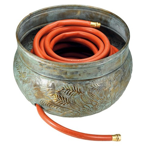 Good Directions Key West Hose Pot - Blue Verde Brass
