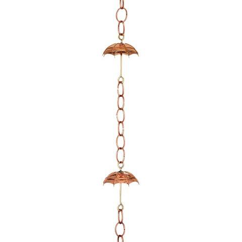 Good Directions Umbrella Rain Chain - Polished Copper