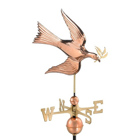 Good Directions Dove Weathervane - Polished Copper