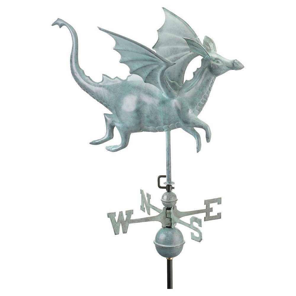 Good Directions Dragon Weathervane - Blue Verde Copper