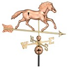 Good Directions Smithsonian Running Horse Weathervane - Polished Copper