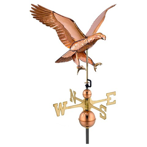 Good Directions Attack Eagle -Weathervane - Polished Copper