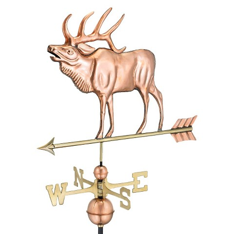 Good Directions Elk Weathervane - Polished Copper