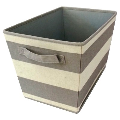 Striped Decorative Linen Bin Set of 2 - Gray Birch - Circo™