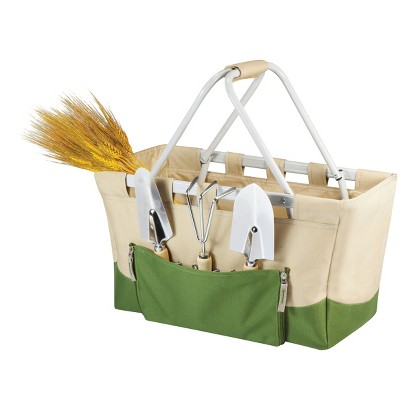 Picnic Time Garden Metro Basket- Tan/ Olive with 3 Pc Tools