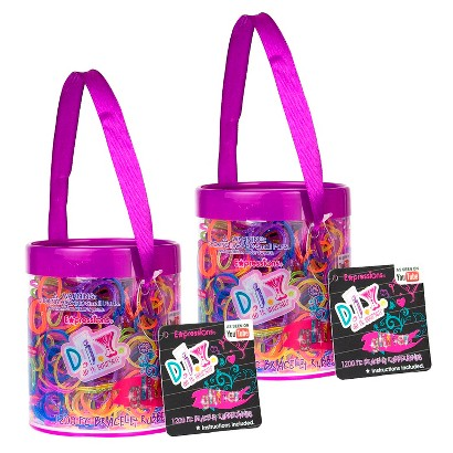 Loom Rubber Band Bracelet Refill Set of 2400 Pieces - Glitter