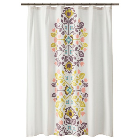 Floral Medallion Shower Curtain Target