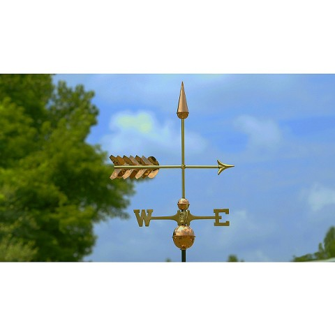 Good Directions Arrow Weathervane - Polished Copper