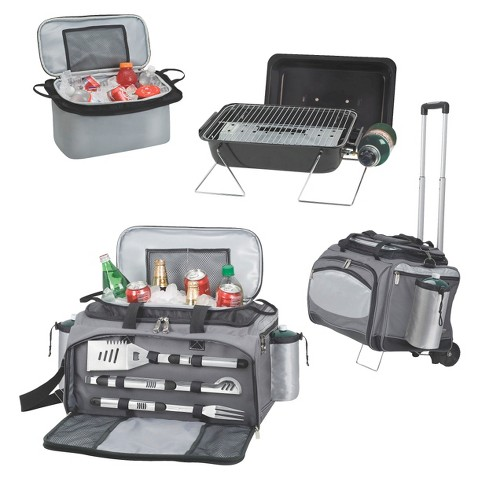Picnic Time Vulcan - Propane Grill /Cooler/ 3 Pc Tools & Trolley