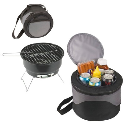 Picnic Time Caliente - Charcoal Grill with Tote/Cooler