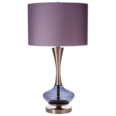 Brass Accent Table Lamp - Grey