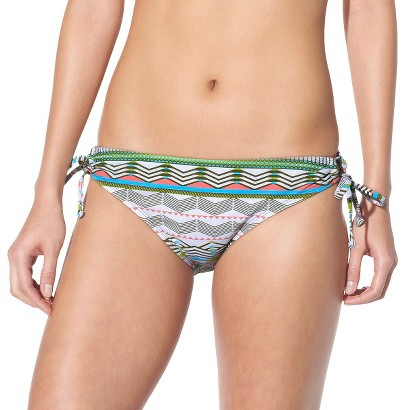 Mossimo® Women's Side Tie Swim Bottom -Geometric Print