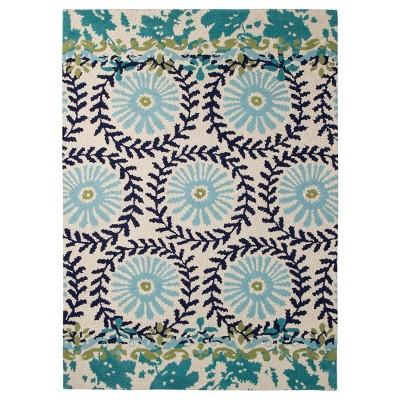 Boho Boutique™ Medallion Floral Area Rug - Blue (5'x7')