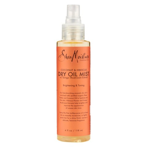 SheaMoisture Coconut & Hibiscus Brightening & Toning Dry Oil Mist - 4 oz