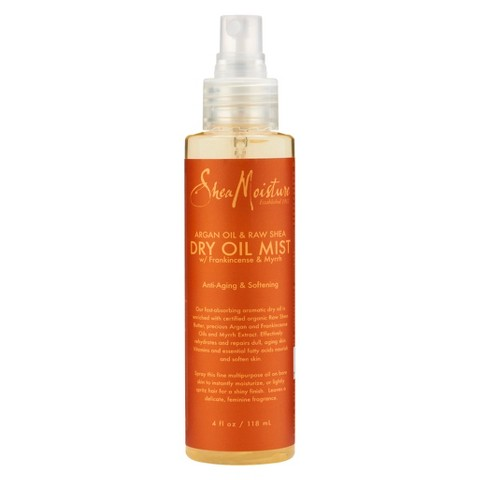 SheaMoisture Argan Oil & Raw Shea Anti-Aging & Softening Dry Oil Mist - 4 oz