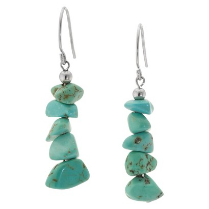 Sterling Silver Dangle Earrings - Turquoise