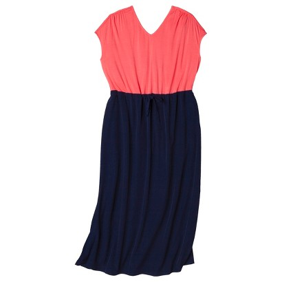 Women's Plus Size Cap Sleeve V Neck Maxi Dress