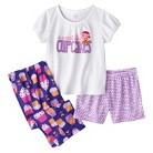 Just One You™ Made by Carter's® Infant Toddler Girls' 3-Piece Short-Sleeve Cupcake Pajama Set