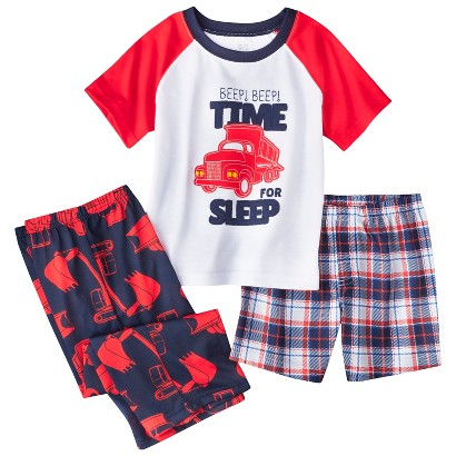 Just One You™ Made by Carter's&#174 Toddler Boys' 3-Piece Short-Sleeve Truck Pajama Set