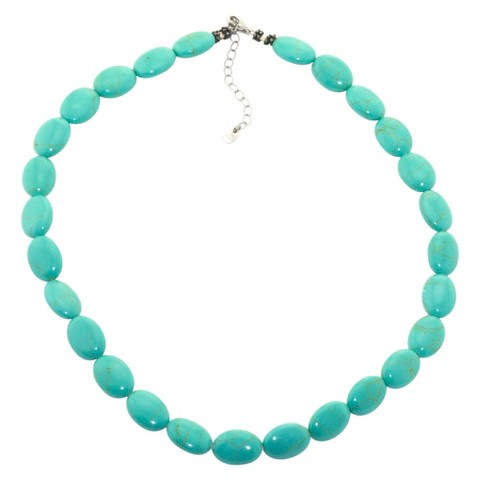 Sterling Silver Beaded Bracelet - Turquoise