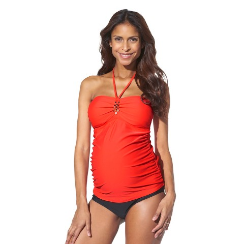 Maternity Bandeau Tankini Swim Top Red-Liz Lange® for Target®