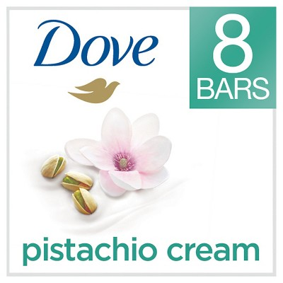 Dove Purely Pampering Pistachio Cream with Magnolia Beauty Bar 4 oz, 8 Bar