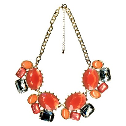 Statement Necklace - Gold/Pink