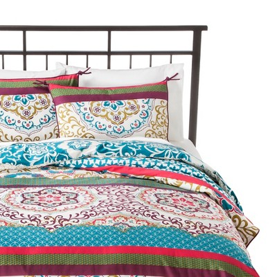 Taj Duvet Cover Set Full/Queen Blue - Boho Boutique™
