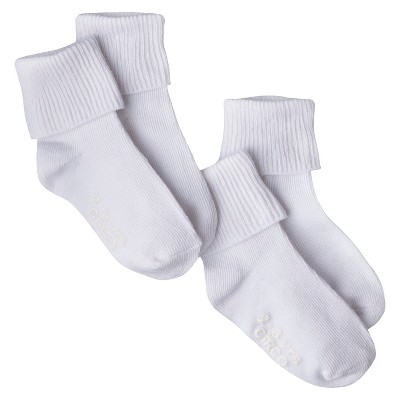 Circo® Infant Toddler 2 Pack Casual Socks - White 0-6 M