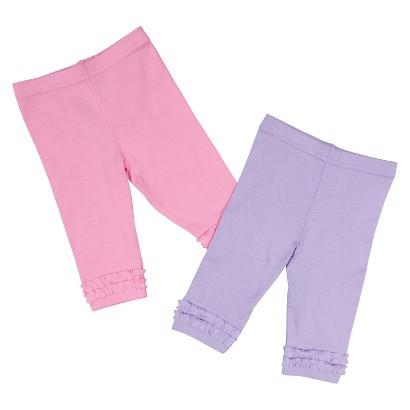 Gerber® Newborn Girls' 2 Pack Legging - Pink/Purple