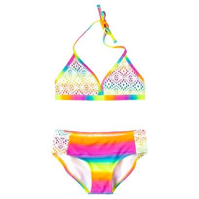 Girls' 2-Piece Crochet Halter Bikini Swimsuit Set