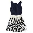 Xhilaration® Knit to Woven Dress Navy