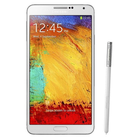 Samsung Galaxy Note III N9000 Factory Unlocked Cell Phone, brightspot Compatible - White