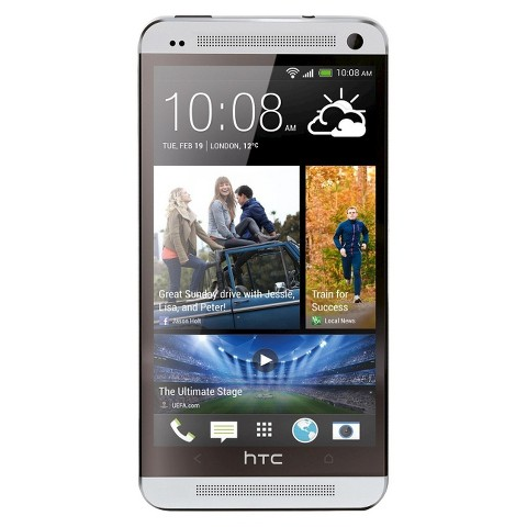 HTC One Factory Unlocked Cell Phone, brightspot Compatible - Silver