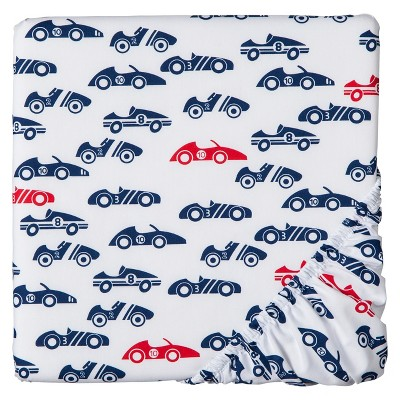 Circo™ Woven Fitted Crib Sheet - Rah Rah Racer