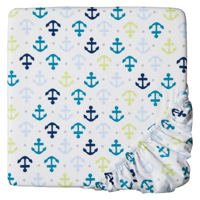Circo® Woven Fitted Crib Sheet - Whales n' Waves