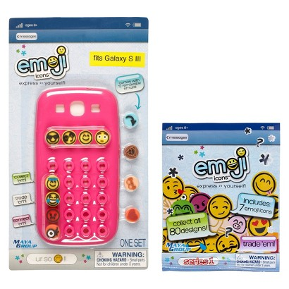 Emoji Icons™ Cell Phone Case Galaxy S3 Bundle - Pink